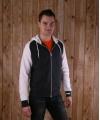 Donker grijze sweater met capuchon en rits