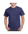 Donkerblauw katoenen shirt voor volwassenen