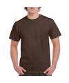 Donkerbruin katoenen shirt voor volwassenen