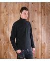 Donkergrijze micro polar fleece trui voor heren