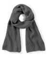 Donkergrijze sjaal beechfield