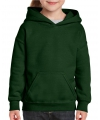 Donkergroene capuchon sweater voor meisjes