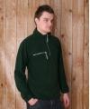 Donkergroene fleece trui voor volwassenen