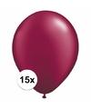 Donkerrode ballonnen 15 stuks