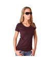 Donkerrood dames t shirt bella
