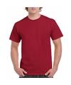 Donkerrood katoenen shirt voor volwassenen