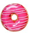Donut kussen roze 40 cm
