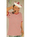 Dorus shirt rood met wit korte mouw