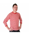 Dorus trui rood met wit voor heren