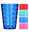 Drink glas van helder plastic roze 350 ml