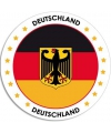 Duitsland sticker rond 14 8 cm