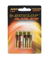 Dunlop alkaline batterijen aaa 4 stuks