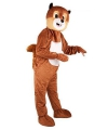 Eekhoorn kostuum met groot pluche masker