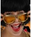 Elvis bril goud voor volwassenen