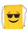 Emoticon gymtasje met zonnebril