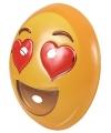 Emoticon masker hartjesogen