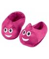 Emoticon sloffen roze drol voor kinderen