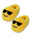 Emoticon sloffen zonnebril voor dames