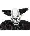 Enge zwarte clown masker voor volwassenen