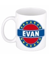 Evan naam koffie mok beker 300 ml