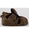 Fashion dames sloffen luipaard bruin