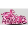 Fashion dames sloffen luipaard roze