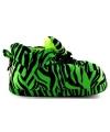 Fashion dames sloffen tijger groen