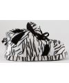 Fashion dames sloffen zebra zwart wit