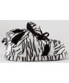 Fashion dames sloffen zebra zwart wit