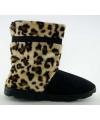Fashion meisjes hoge sloffen luipaard bruin