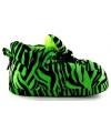 Fashion meisjes sloffen tijger groen