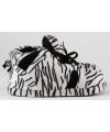 Fashion meisjes sloffen zebra zwart wit