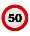 Feestbordjes 50 jaar stopbord