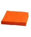 Fel oranje servetten 33 x 33 cm