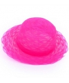 Fel roze dameshoed van organza stof