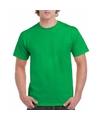 Felgroen katoenen shirt voor volwassenen