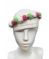 Festival bloemen hoofdband groen wit rood