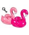 Flamingo spaarpot lichtroze 19 cm