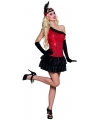 Flapper kostuum jurkje rood met zwart