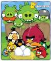 Fleece deken angry birds groen