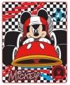 Fleece deken mickey raceauto 120 x 140 cm