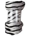 Fleece plaid witte zebra