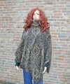 Fleece ponchotrui print