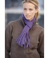 Fleece sjaal met franjes