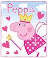 Fleecedeken peppa pig roze 140 x 120 cm