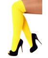 Fluor gele lange sokken
