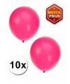 Fluor roze ballonnen 10 stuks