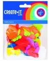 Foam rubberen letters in diverse kleuren 104 st