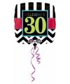 Folie ballon 30 jaar 43 cm