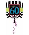 Folie ballon 60 jaar 43 cm